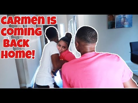 CARMEN'S COMING BACK HOME NOW PRANK!!!