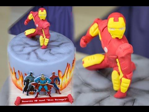 Торт Железный человек / Iron Man Cake - Я - ТОРТодел!
