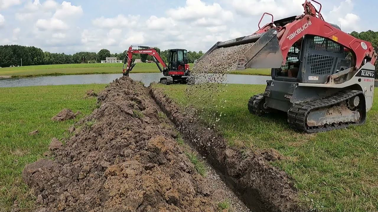 Installing A French Drain And Catch Basin