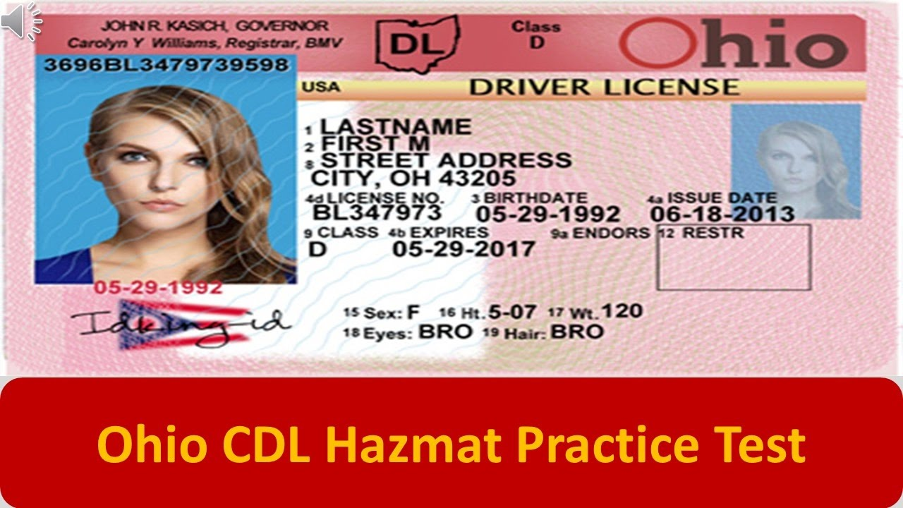 photo relating to Cdl Hazmat Practice Test Printable called Ohio CDL Hazmat Coach Try
