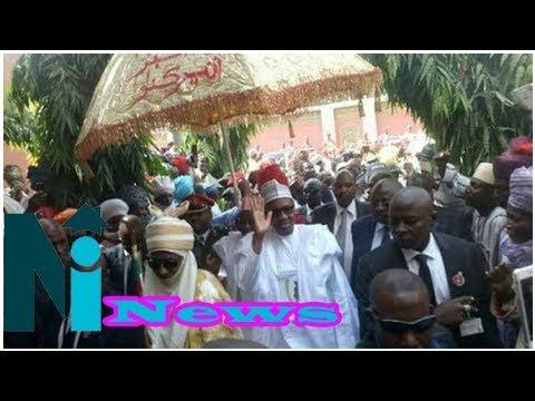 Buhari visits emir sanusi, says 'reception i got in kano overwhelming' [video]