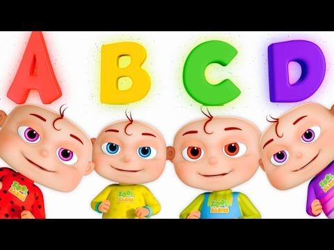 Five Little Babies Opening Surprise Eggs | ABC For Children | Phonics Song By Zool Babies