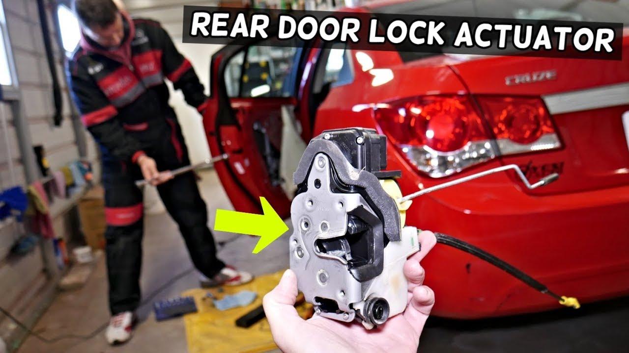 Chevrolet Cruze Rear Door Lock Actuator Removal Replacement Chevy Cruze Youtube