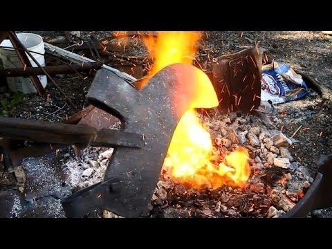 make a blacksmithing forge
