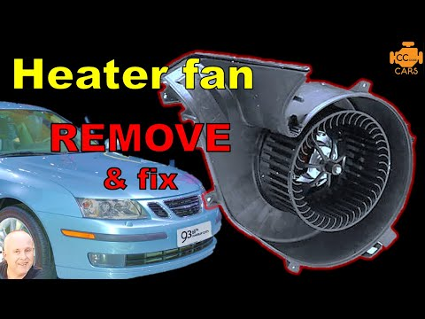 Is YOUR Saab 9-3 Heater fan NOT WORKING or SQUEALING | How to remove
