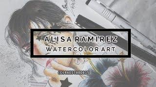 Alisa Ramirez ( The Aces) l Watercolor Art