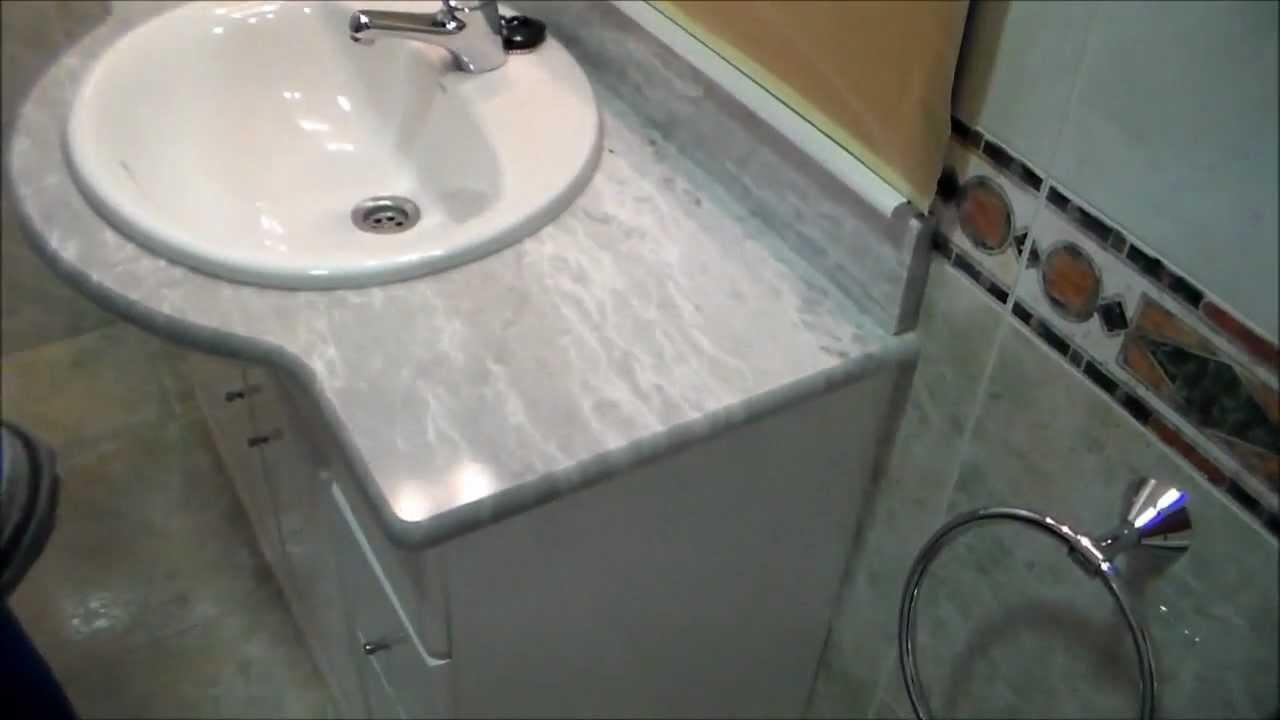 Pulido de encimera de ba o youtube - Encimera de bano ...