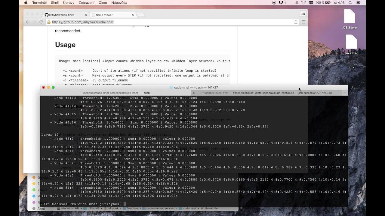 Demonstration of spiking neural network implementation