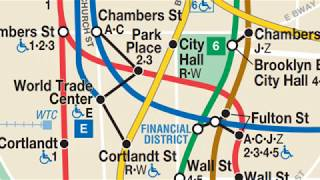 How to transfer from the (2) train at Fulton Street to the (2) train at Park Place: One Station Away
