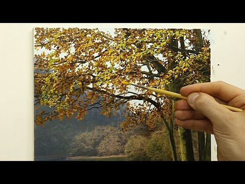 #52 How to paint an autumn tree | Oil Painting | Michael James Smith