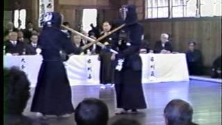 1990 明治村剣道大会 宮崎 昭 教士 - 筒井 榮信 教士