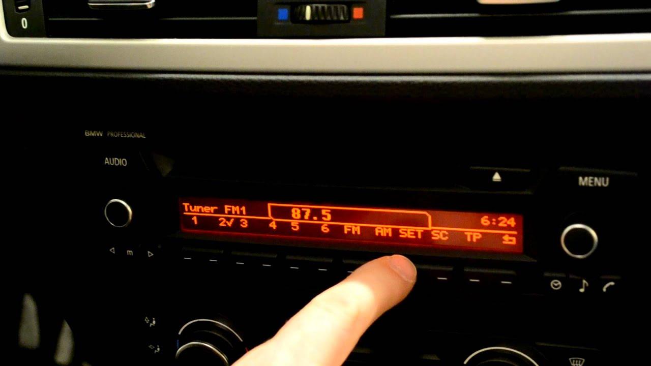 bmw radio professional manual facelift e87 e90 [ 1280 x 720 Pixel ]