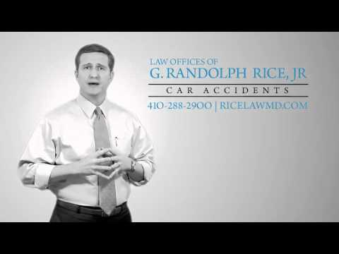 Maryland car accident, personal injury attorney G. Randolph Rice, Jr., - 2015 TV commercial.
