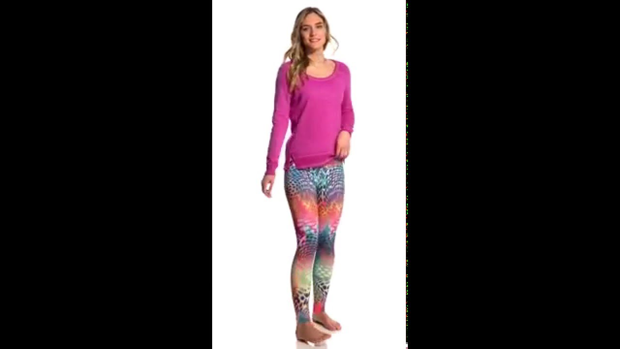 5101e6688af96 Om Shanti Clothing Rainbow Leopard Eco Yoga Leggings | SwimOutlet.com