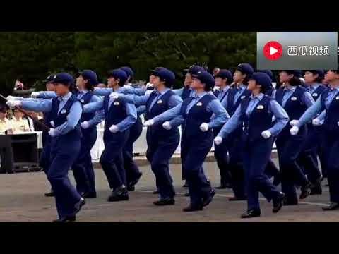 越南、日本、俄羅斯、印度、中國女兵閱兵式,中國女兵壓軸