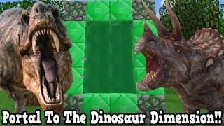 Minecraft How To Make A Portal To The Dinosaur Dimension - Dino Dimension Showcase!!!