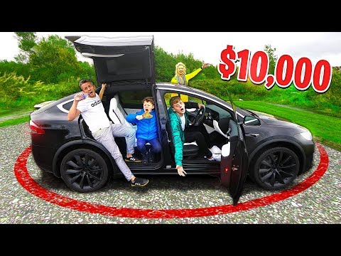 Last To Leave The TESLA Wins $10,000 - Challenge