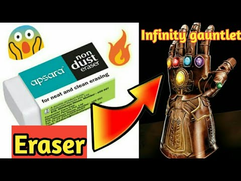 DIY How to make infinity gauntlet with eraser 🔥🔥 || easy at home