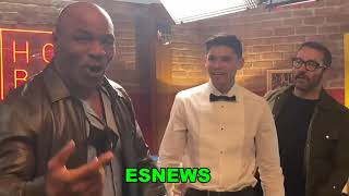 WOW MIKE TYSON GERVONTA DAVIS AND RYAN GARCIA ON FACETIME ELIE SECKBACH PHONE  EsNews Boxing