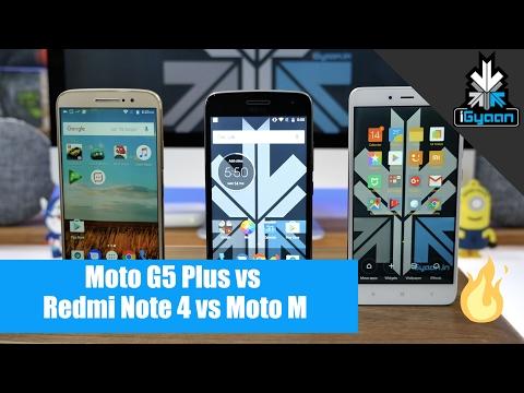 Moto G5 Plus vs Redmi Note 4 vs Moto M