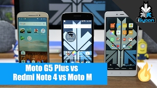 Moto G5 Plus vs Redmi Note 4 vs Moto M