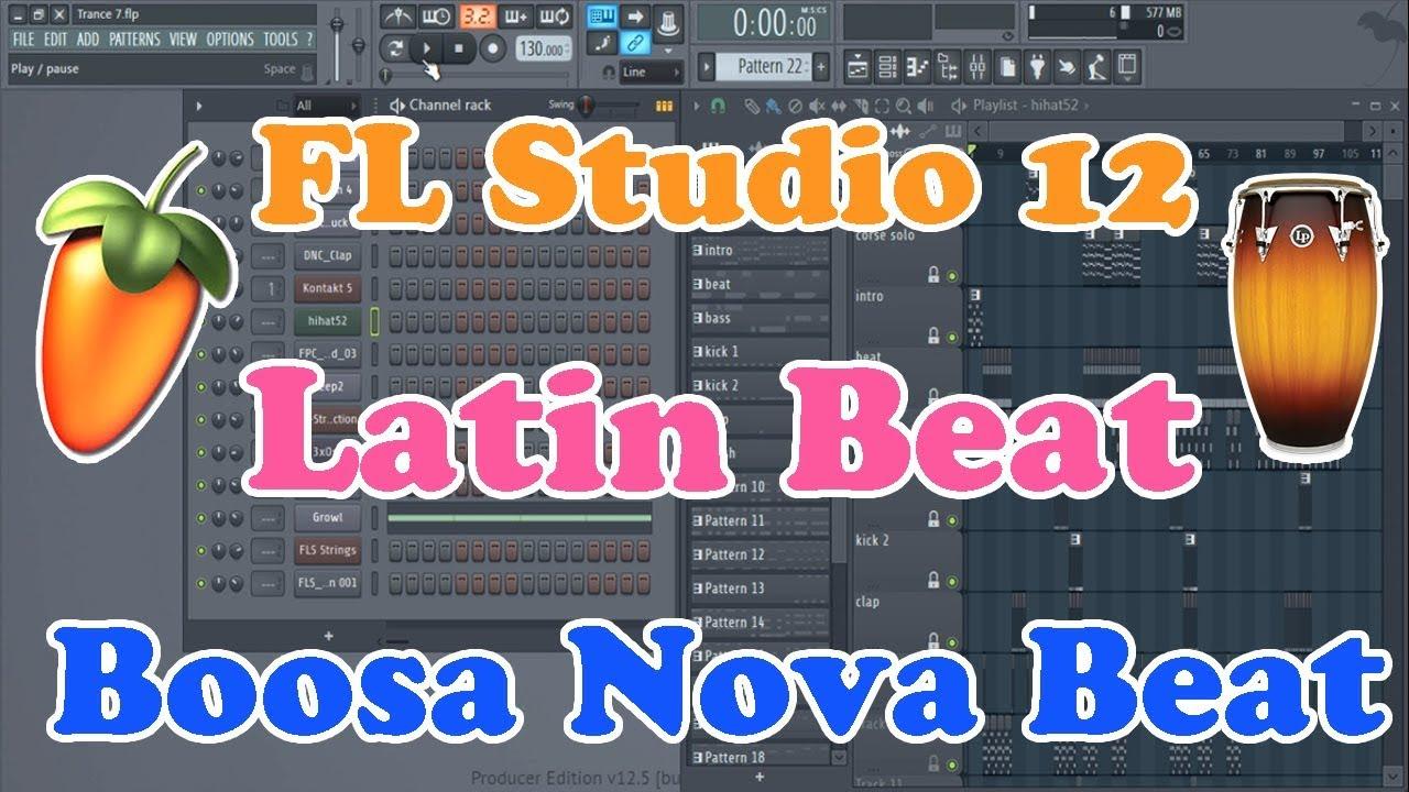 FL Studio 12 Tutorial | How To Make Bossa Nova Latin Beat