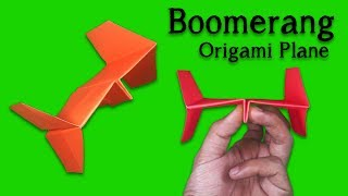 How to Make a Paper Airplane Easy and Fast for Kids ! Origami Boomerang Airplane Easy