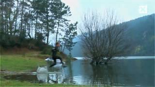 Ja, het kan echt, op water lopen! (Liquid Mountaineering als je bij Hi-Tec werkt)