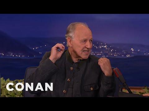 """Werner Herzog Calls His Online Impostors """"Unpaid Stooges""""  - CONAN on TBS"""