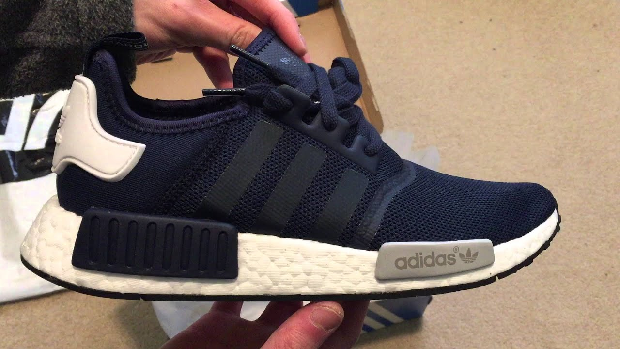 30a6d9c86e291 Double Up!! Adidas NMD Runner (Navy White) Sneaker Unboxing - YouTube