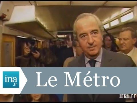 """Edouard Balladur """"il fait chaud dans le métro, mais ça sera climatisé en l'an 2000"""" - Archive INA"""