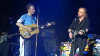 Download Coldplay &  Barry Gibb - To Love Somebody - Glastonbury 2016 MP3 song and Music Video