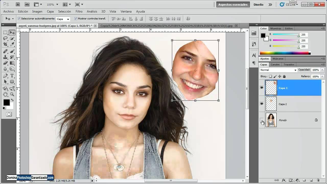 C mo cambiar el rostro de una mujer por otro tutorial de - Cambiar una casa por otra ...