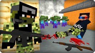Зомби съели военных [ЧАСТЬ 8] Зомби апокалипсис в майнкрафт! - (Minecraft - Сериал)