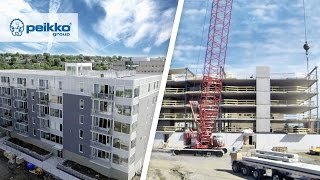 Time Lapse of Peikko's Frame Solution in North America: A floor every three days!