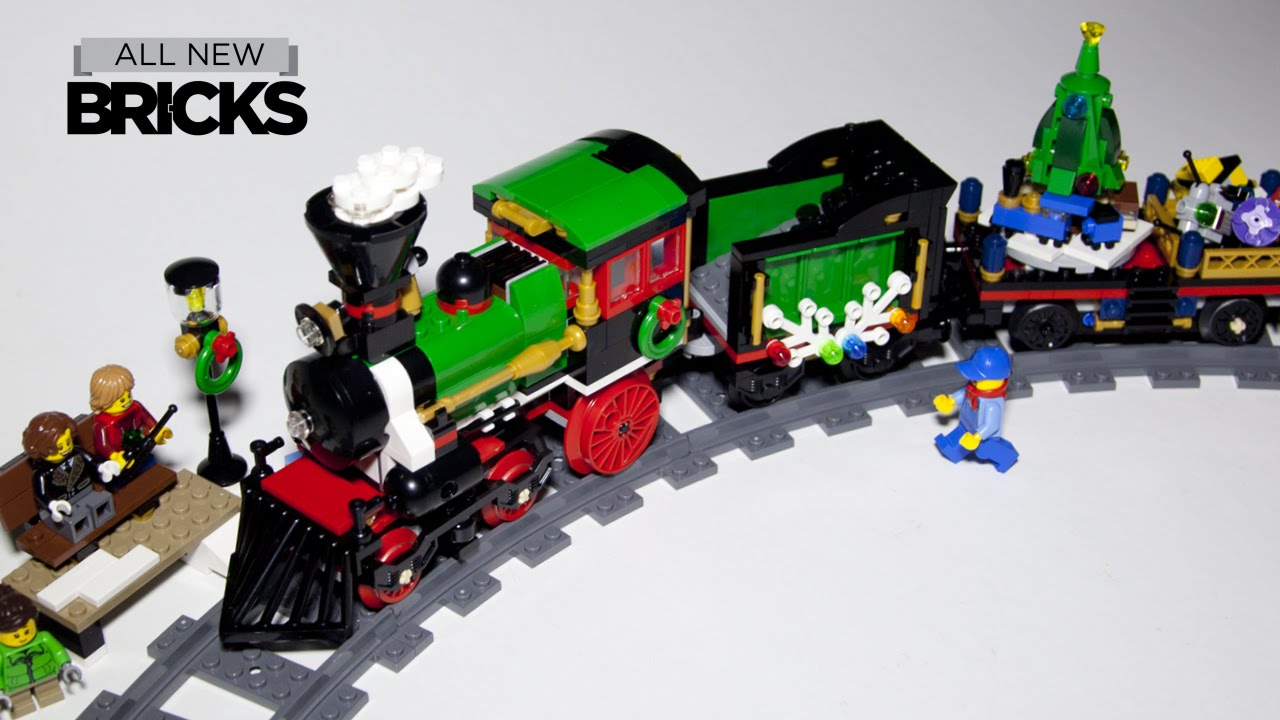 Lego Christmas Train.Lego Creator 10254 Winter Holiday Train With Power Functions Speed Build