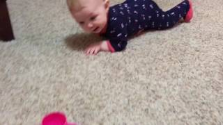 Jade learns to army crawl pt2