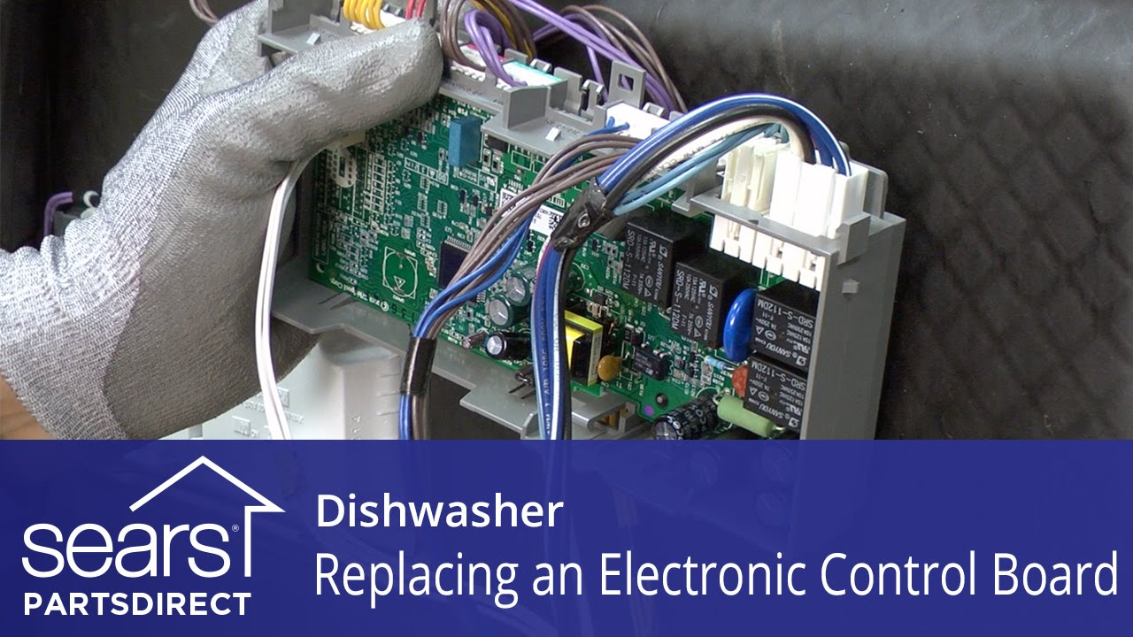 replacing the electronic control board on a dishwasher [ 1280 x 720 Pixel ]