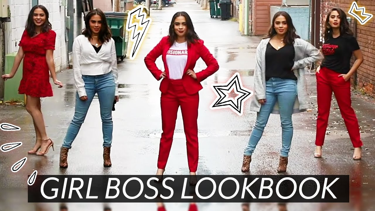 STYLISH GIRL BOSS OUTFIT IDEAS    WORK OUTFITS LOOKBOOK ♡ - YouTube 2abe8fe86fab