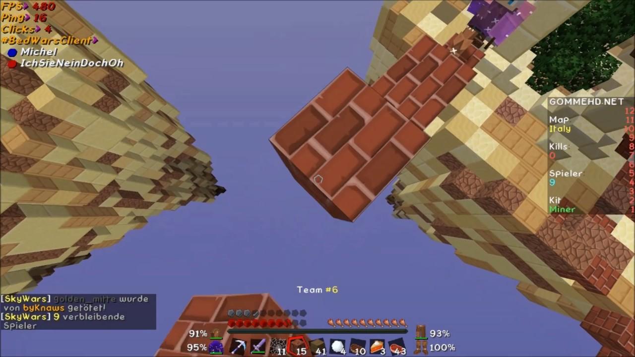 Minecraft SkyWars Challenge German YouTube - Minecraft skywars spiele