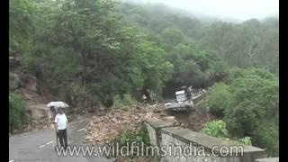 Landslide in Mount Abu after heavy rain