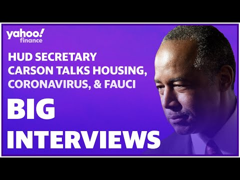 Trump administration official Ben Carson talks housing, coronavirus, and Dr. Fauci