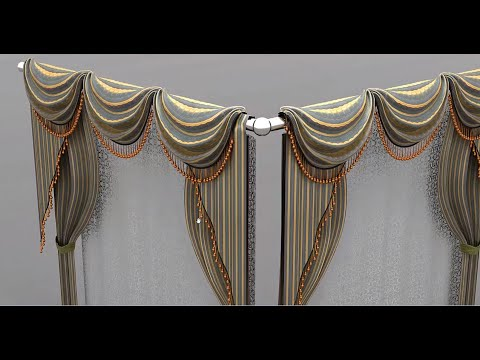 3d Curtain modeling tutorial