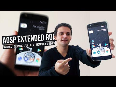 INSTALAÇÃO E REVIEW DA ROM | AOSP EXTENDED 4.5 AndroidPuro7.1.2 | Samsung/Moto/LG/Lenovo etc
