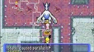 Mew and Lugia trek through Joyous Tower