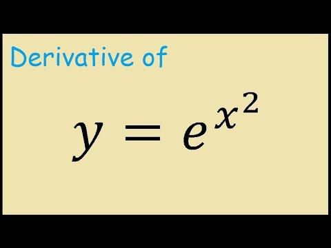 Derivative of y = e^(x^2)