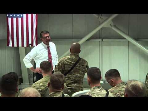 Secretary Carter speaks with troops in Baghdad - July 23, 2015