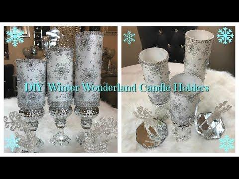 DOLLAR TREE CANDLE HOLDERS - CHRISTMAS DECOR