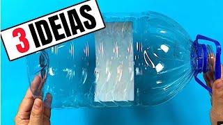3 ideias de decoração com galão de água PET | Galão de 5 litros