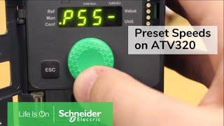 Configuring Preset Speed Operation on Altivar 320 Drives